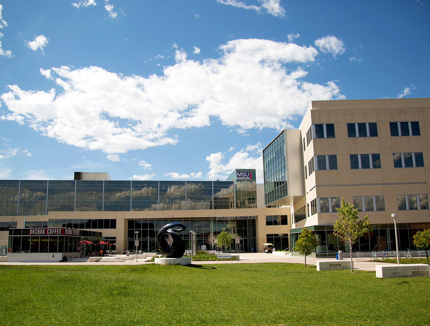 Photo of the Student Success Building on the Auraria Campus.