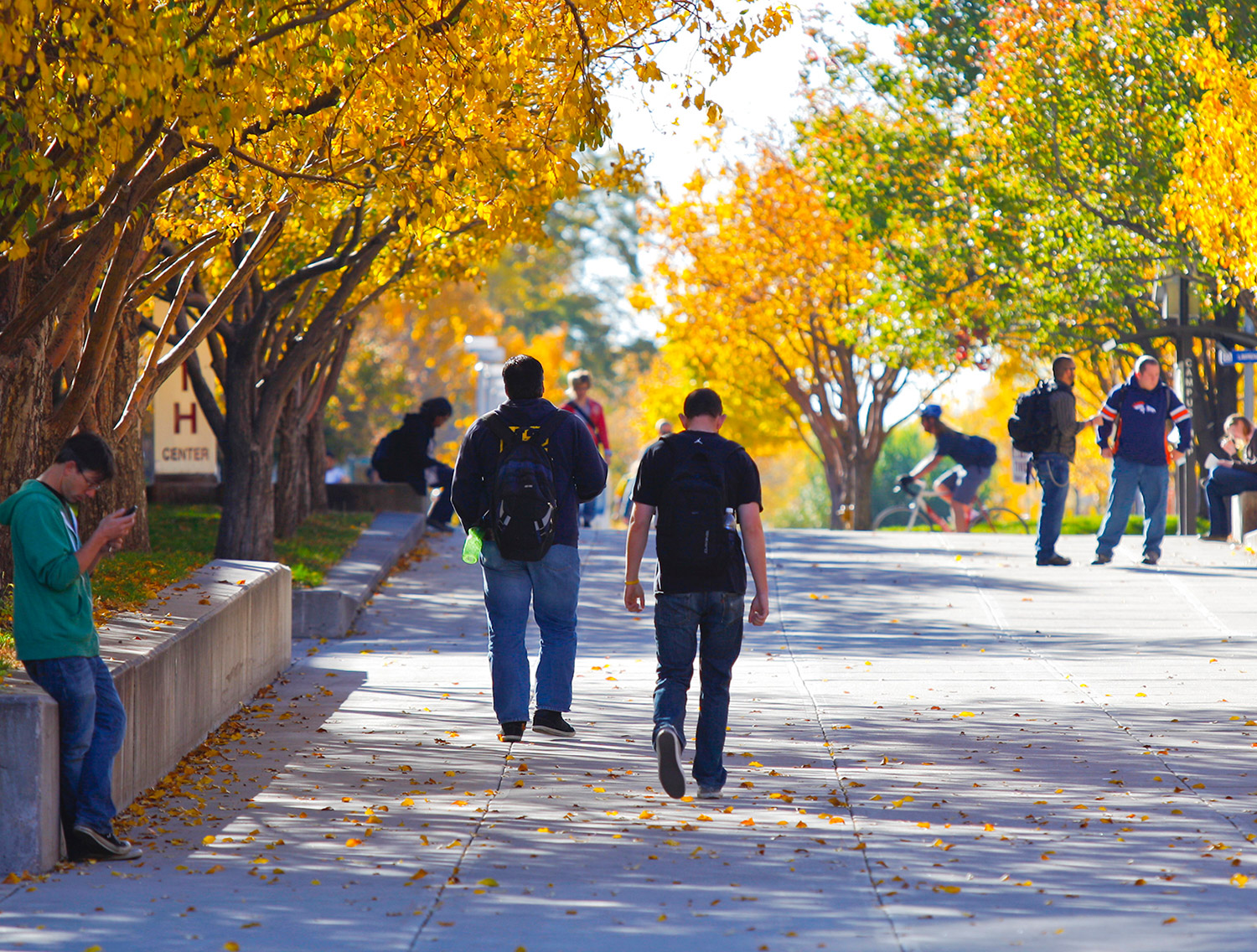 Students Walking on the Auraria Campus