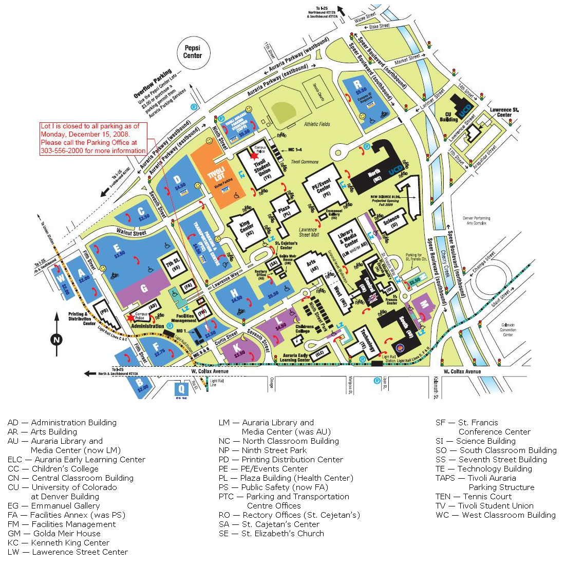 auraria campus map. faculty  metropolitan state college of denver  acalog acms™